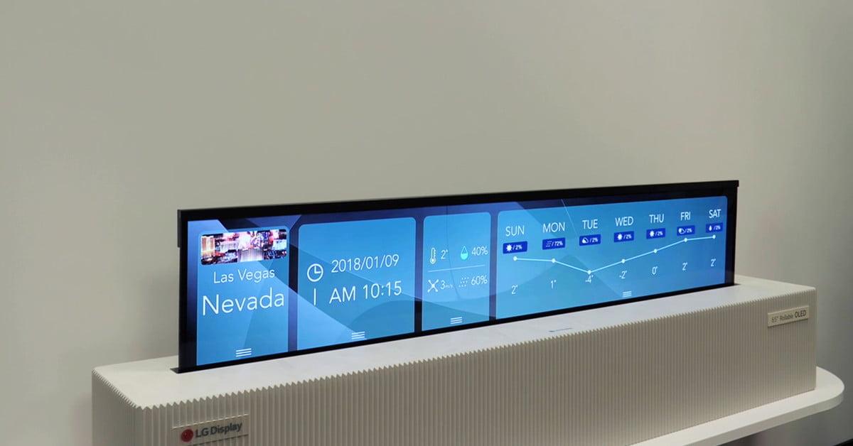 LG dezvaluie un display OLED UHD de 65 inci care se poate rula