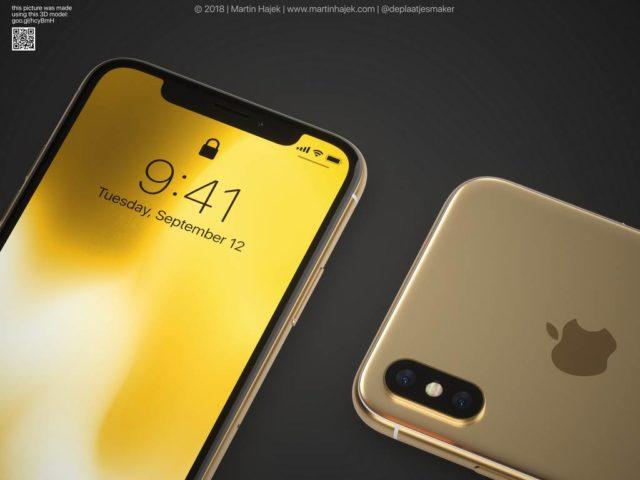 O macheta arata cum ar putea arata un smartphone iPhone X auriu