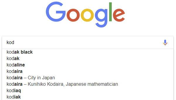 Ce cuvant inlatura Google din functia de autocompletare a cautarii