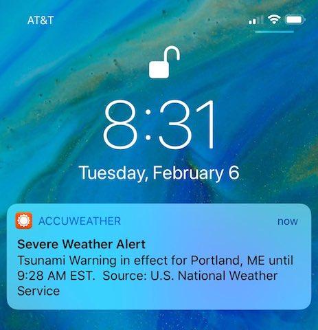 O alerta falsa de tsunami a panicat oamenii