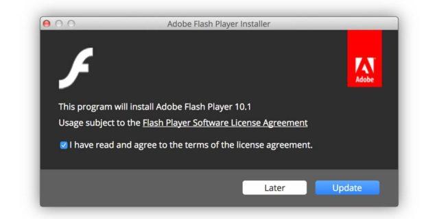 A aparut un nou Flash Player fals pentru Mac si vine cu cateva probleme
