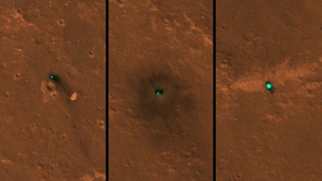 Cum arata robotul InSight de pe Marte din spatiu