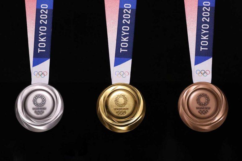 Asa arata medaliile din electronicele reciclate pentru Jocurile Olimpice din 2020 din Tokio