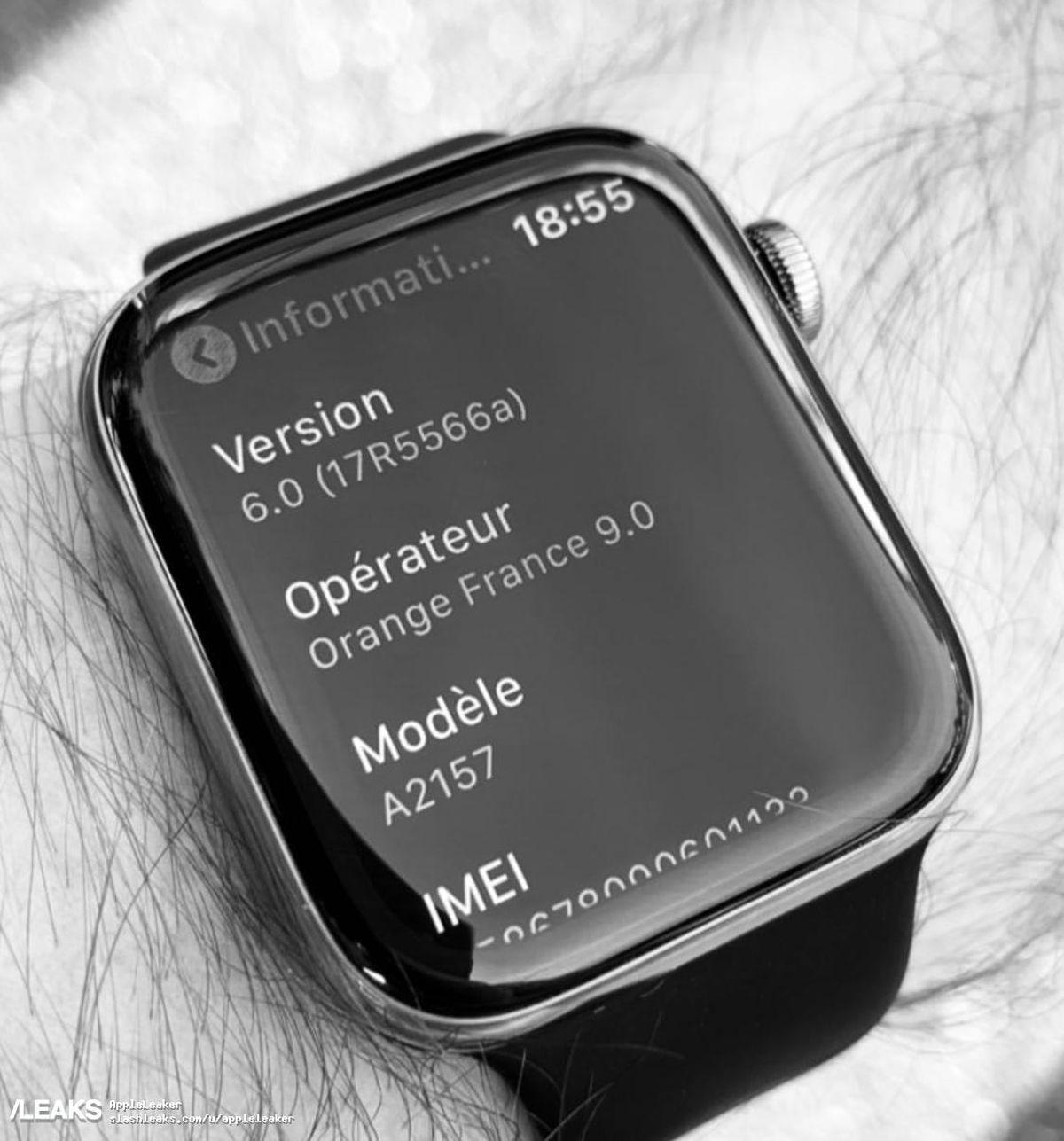 Aceasta poate fi prima fotografie neoficiala cu smartwatch-ul Apple Watch Series 5
