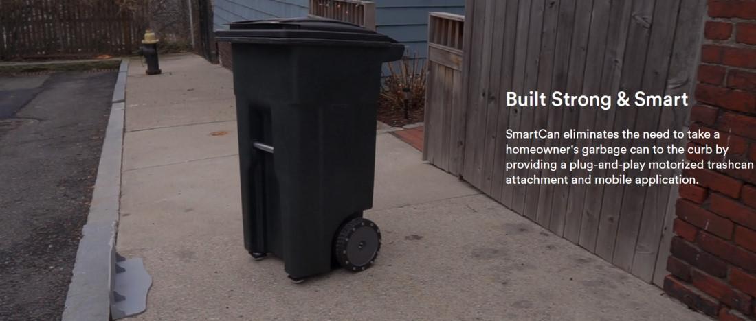 Cum e cosul de gunoi care merge pentru a fi golit, fara interventia fizica a proprietarului