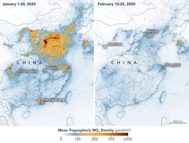 De ce poluarea aerului din China s-a redus dramatic