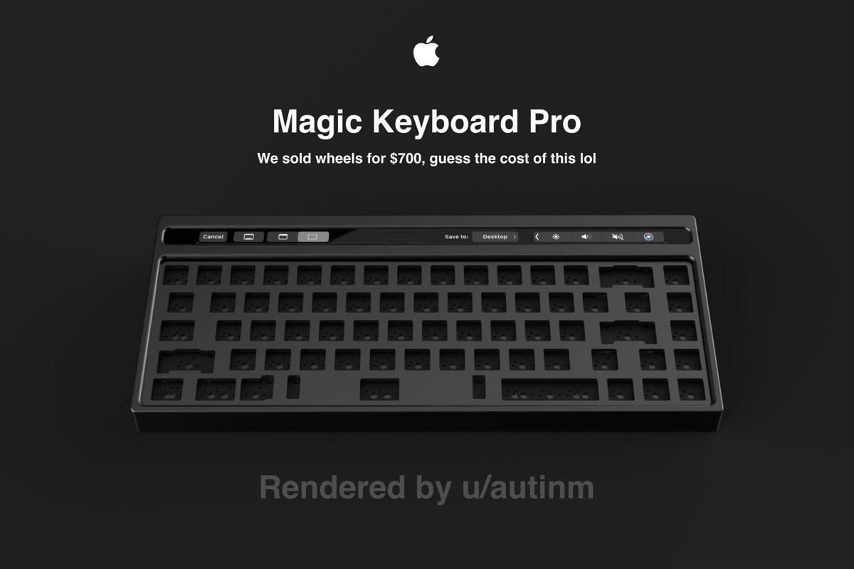 Asa ar arata o tastatura mecanica externa de la Apple