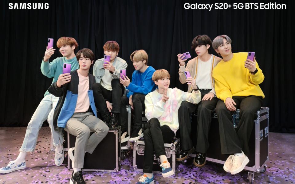Cu ce trupa de K-Pop colaboreaza Samsung pentru smartphone-ul Galaxy S20+ 5G si castile wireless Galaxy Buds+
