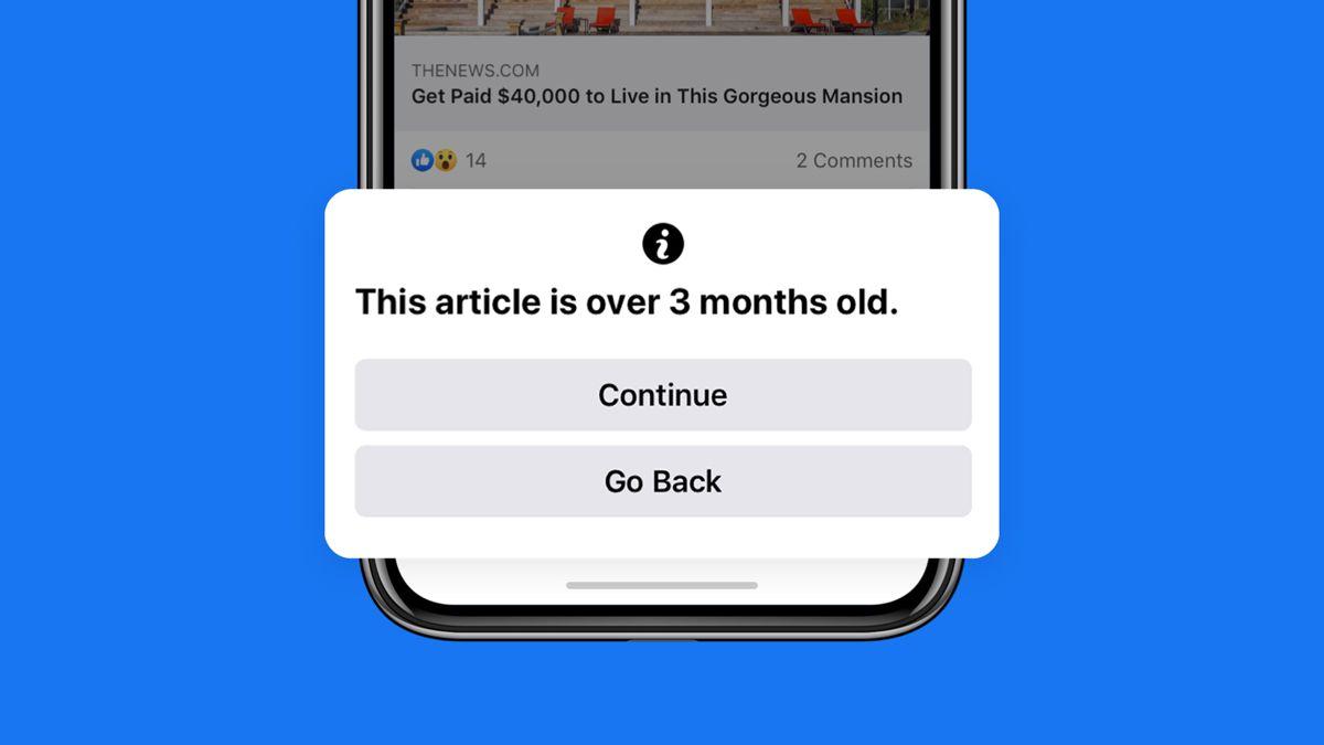 De ce Facebook ii notifica pe utilizatori daca distribuie stiri vechi de peste 90 de zile