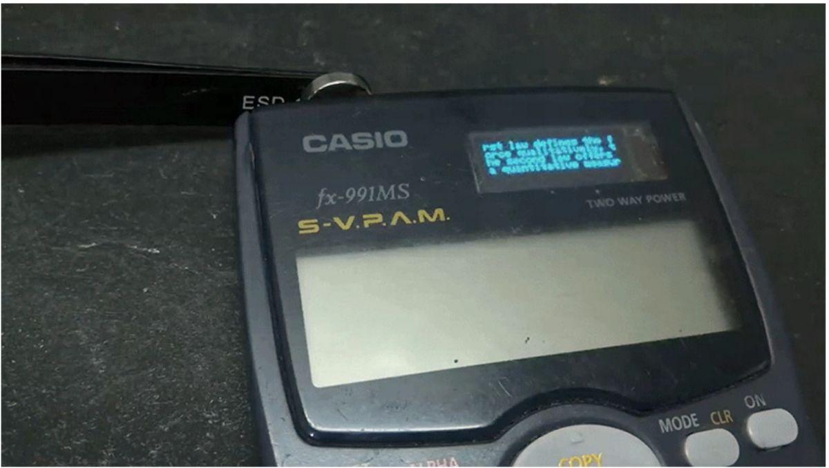 Cum a fost modificat pentru trisat acest calculator de buzunar