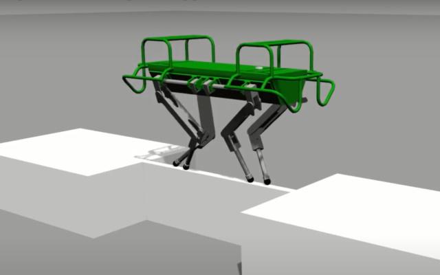 Cum au reusit cercetatorii sa permita unui robot cu patru picioare sa-si mentina echilibrul pe o punte ingusta