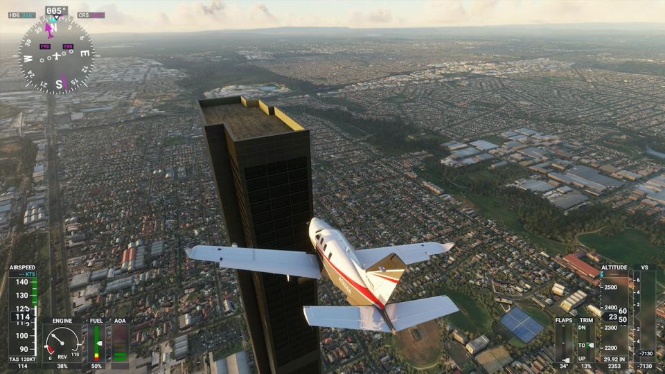 Cum a aparut o cladire de 212 etaje in Flight Simulator