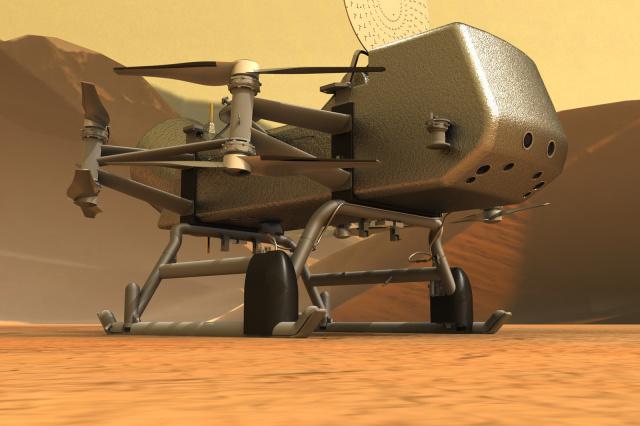 Aceasta e drona spatiala care va fi trimisa catre Titan, satelitul natural al Saturn