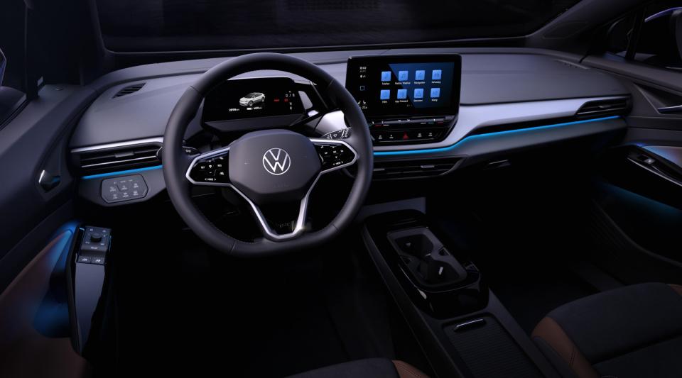 Asa arata interiorul masinii electrice ID.4 a Volkswagen