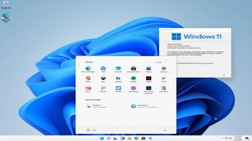 Capturi de ecran cu Windows 11, noul sistem de operare al Microsoft