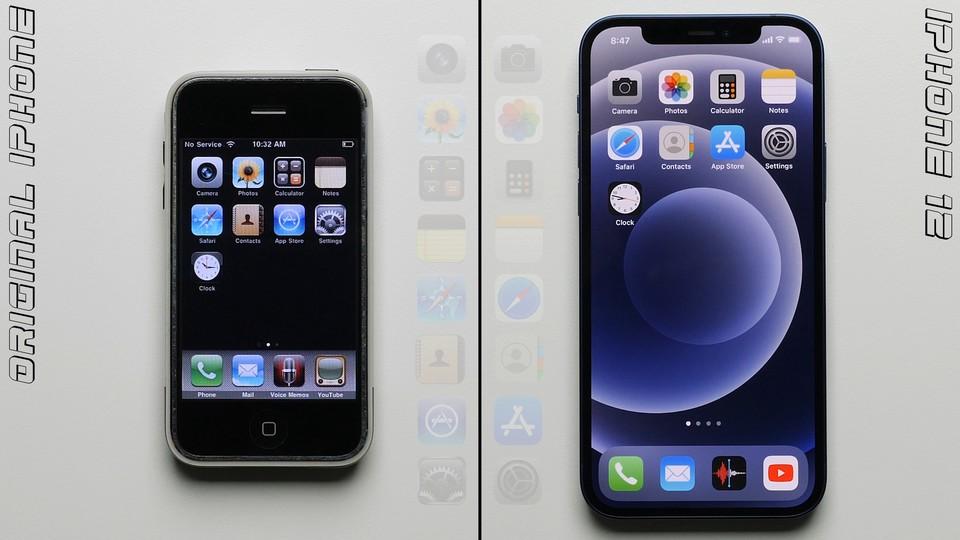 Primul iPhone din istorie VS iPhone 12 intr-un test de performanta